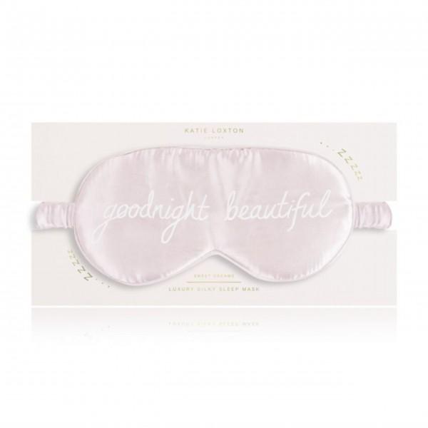 """Schlafmaske """"Goodnight Beautiful"""" (Rosa) von KATIE LOXTON"""