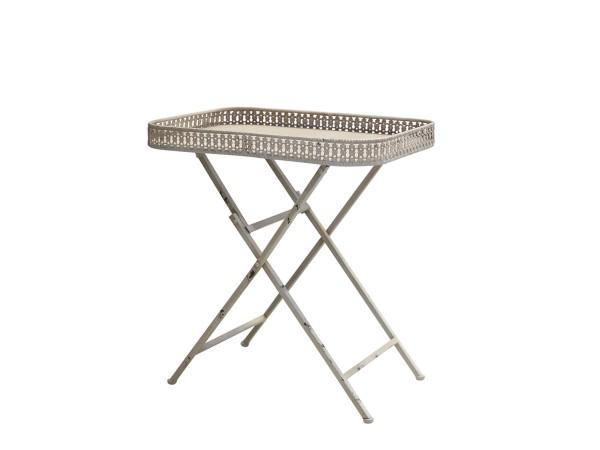 Chic Antique Tisch Spitzenkante (Creme)