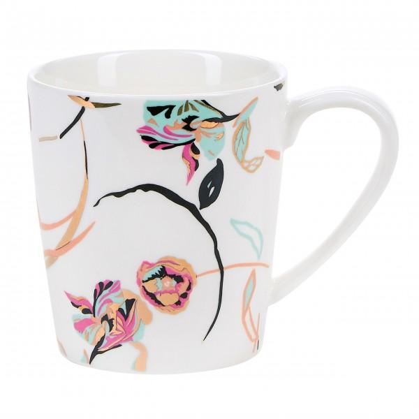 Miss Étoile Tasse mit Blumenmuster (Weiß)