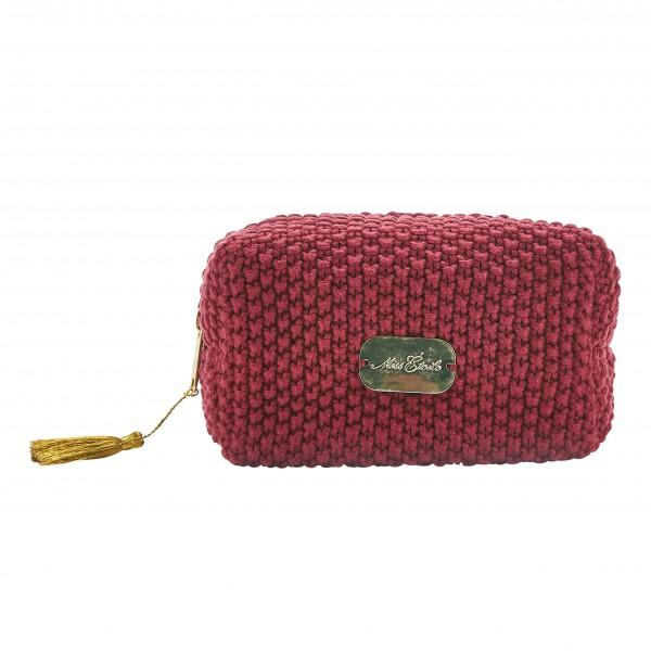 """Cooles Accessoire von Miss Étoile: Kosmetiktäschchen """"Knitted"""""""