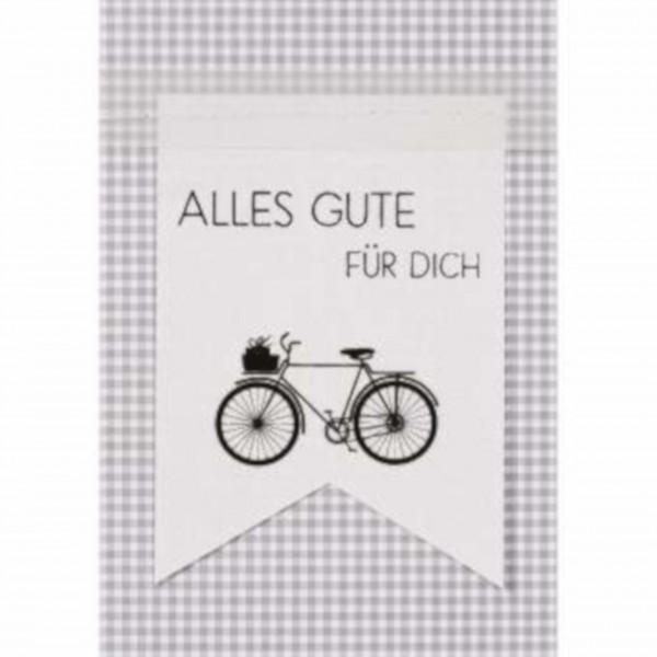 """Fahnenkarte """"Alles Gute für Dich"""" von räder Design"""