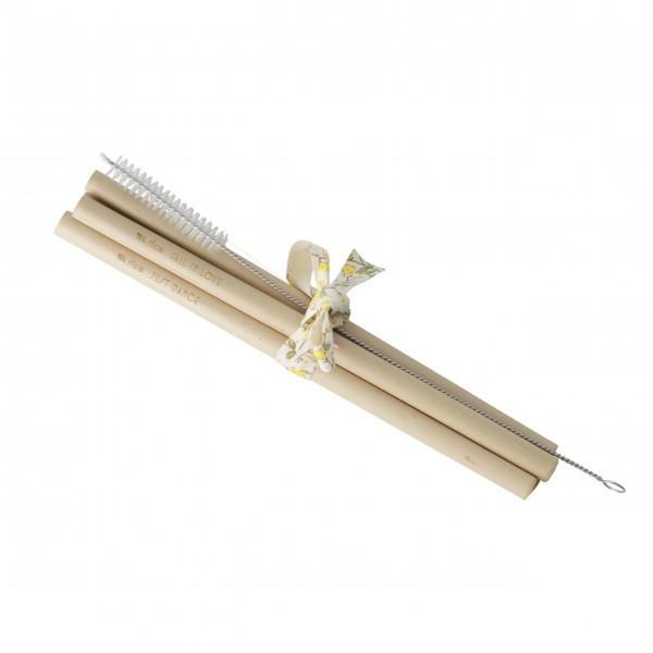 Rice Strohhalm aus Bambus im 5er-Set (Braun)
