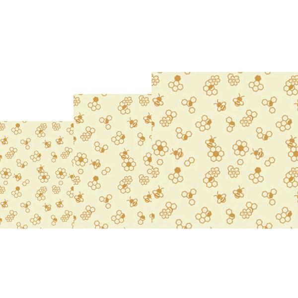 """Bee`s Wax Wrap Bienenwachstuch """"Bienenwabe"""" - 3tlg. - von nuts"""