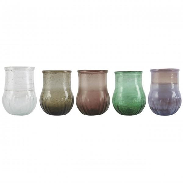 "Ib Laursen Vase ""Unika"" (Bunt), 5er-Set"