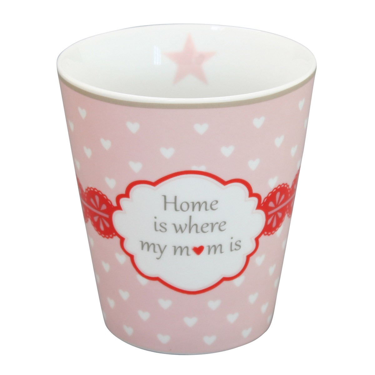 Krasilnikoff Happy Mug Home Is Where My Mom Is Rosa