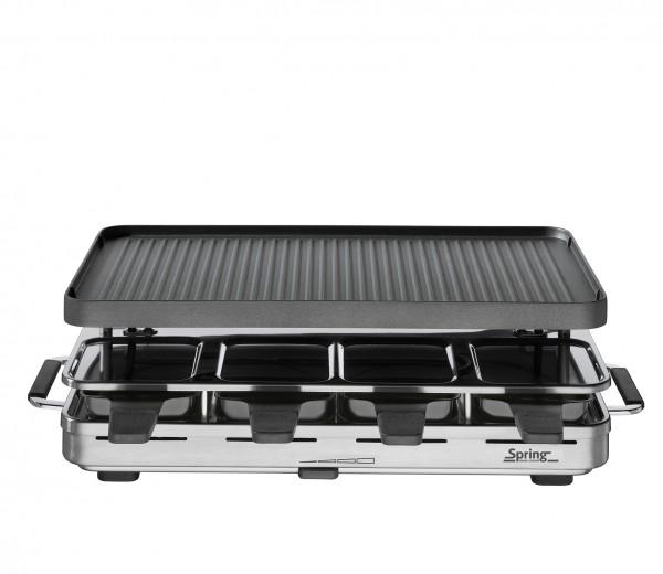 Spring Raclette 8 (Schwarz) mit Alugrillplatte