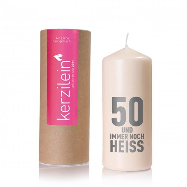 50 und immer noch heiß - Kerze von Kerzilein