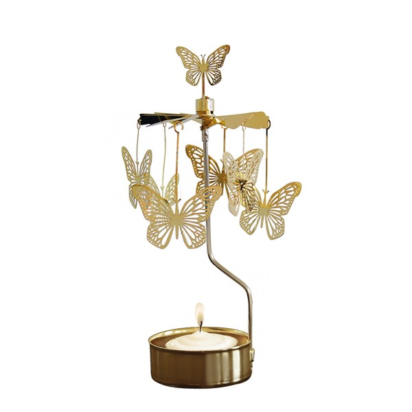 "Teelichtkarussell ""Schmetterling"" (Gold)"