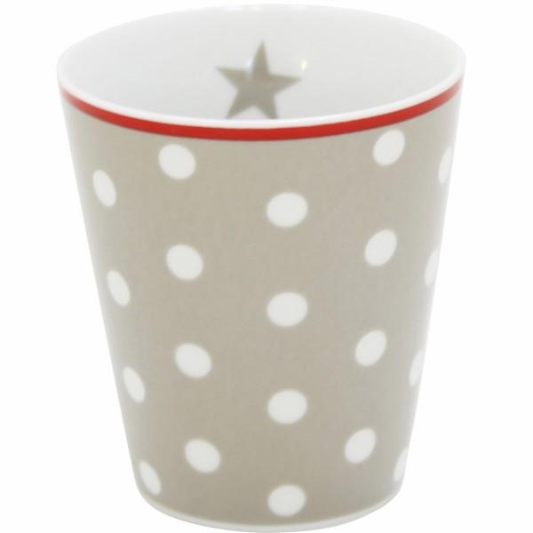 "Krasilnikoff - Happy Mug ""Punkte"" (Taupe)"