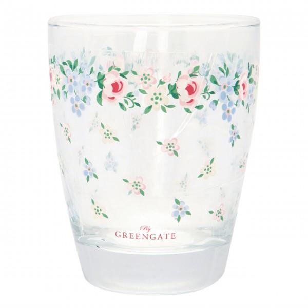 """GreenGate Wasserglas """"Melina"""" (White)"""