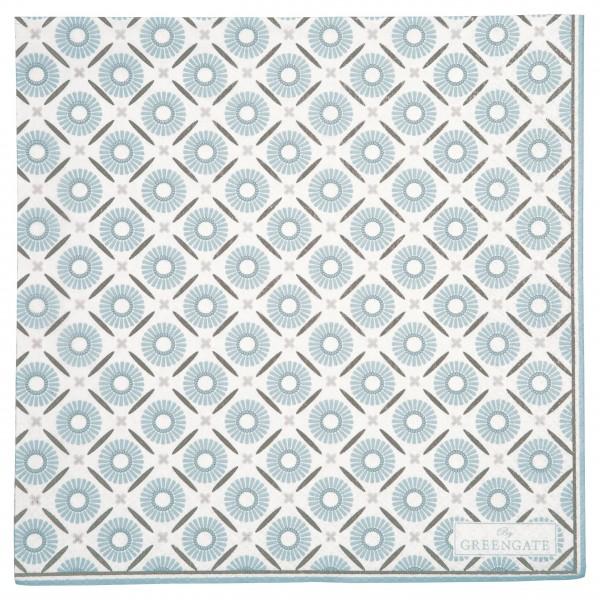 """GreenGate Papierserviette """"Alva"""" - 20 Stk. (White)"""