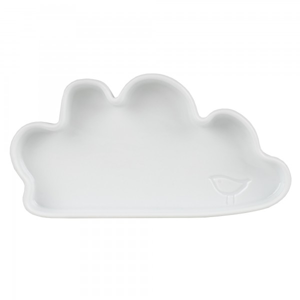 """Kindergeschirr Teller aus Prozellan """"KIDS - Wolke"""" (Weiß) von räder Design"""