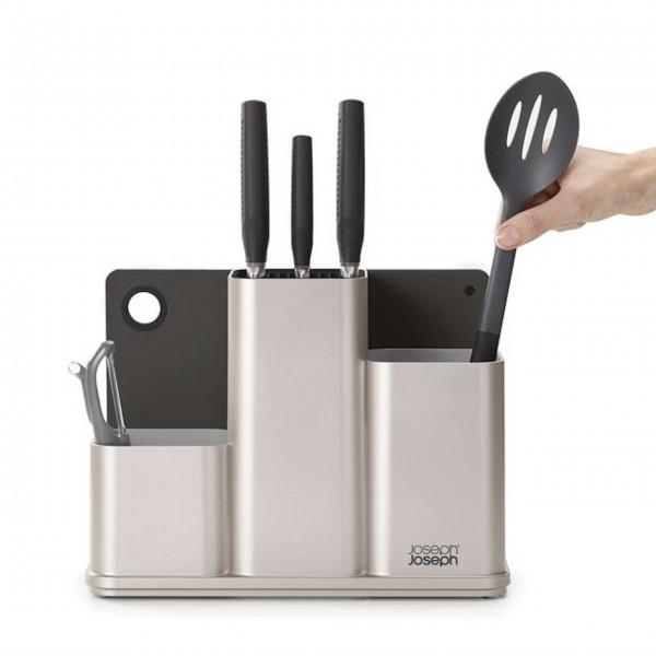 JosephJoseph-Küchenordnungshelfer-mit-Schneidebrett-CounterStore-Silber---1