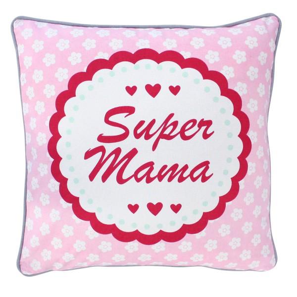 """Mami ist die beste - Kissenhülle """"Super Mama"""" von Krasilnikoff"""