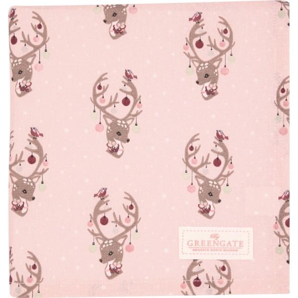 "GreenGate Tischdecke ""Dina"" - 100x100cm (Pale Pink)"
