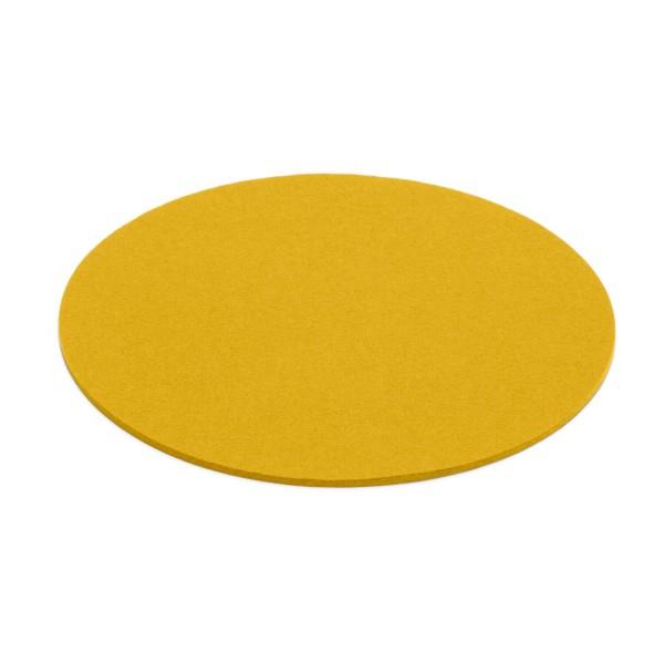 Filz-Untersetzer rund - 20 cm (Gelb/Curry) von HEY-SIGN