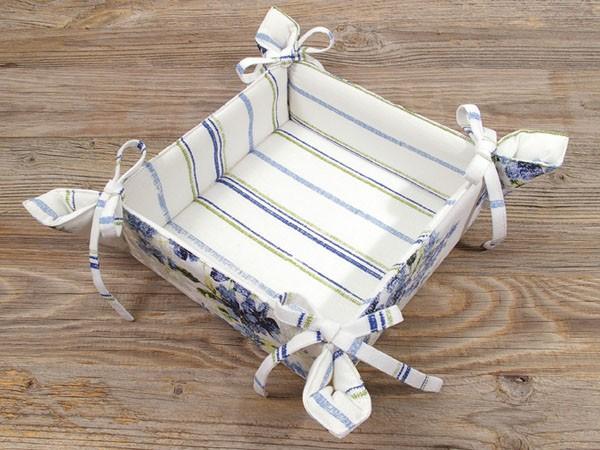"Country Home Style Brotkorb ""Iris"" (blau/weiß)"