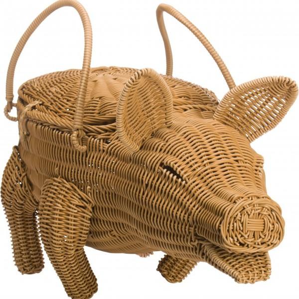"""Westmark Dekokorb """"Schwein Piggy"""" (Beige)"""