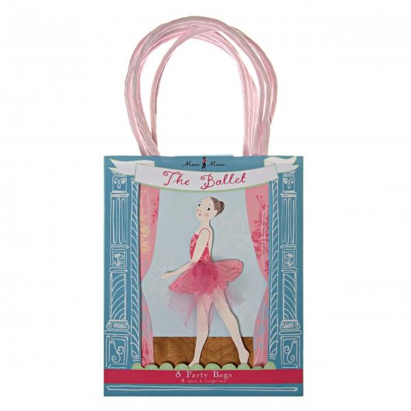 Partytüten mit Ballerina-Print für kleine Prinzessinen