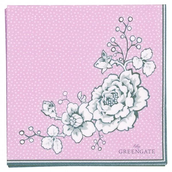 """GreenGate Kleine Papierservietten """"Ella"""" (Pale Pink)"""