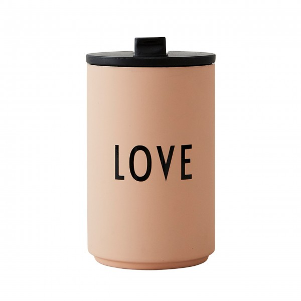 Design Letters isolierter Thermobecher LOVE (Rosa)