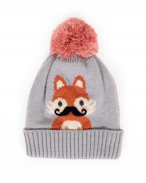 "Powder Kinder Mütze ""Fox"" (Grau)"