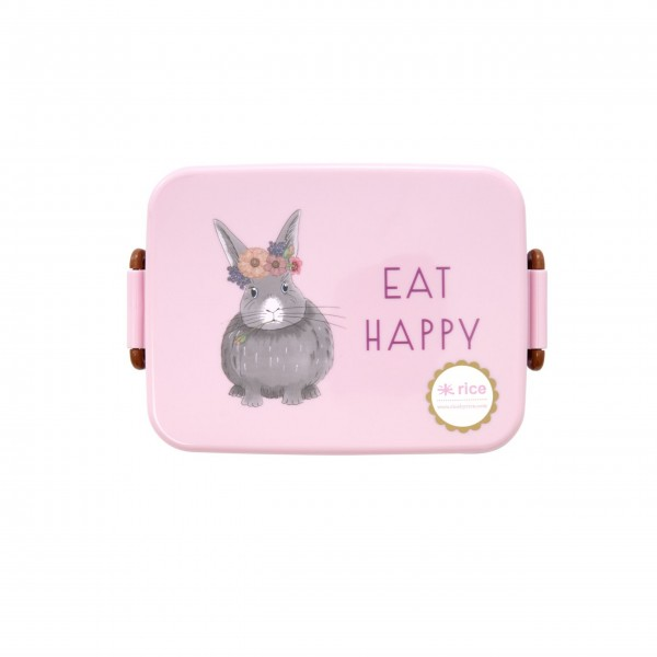 "Rice Lunchbox ""Farm Animals"" (Pink)-1"