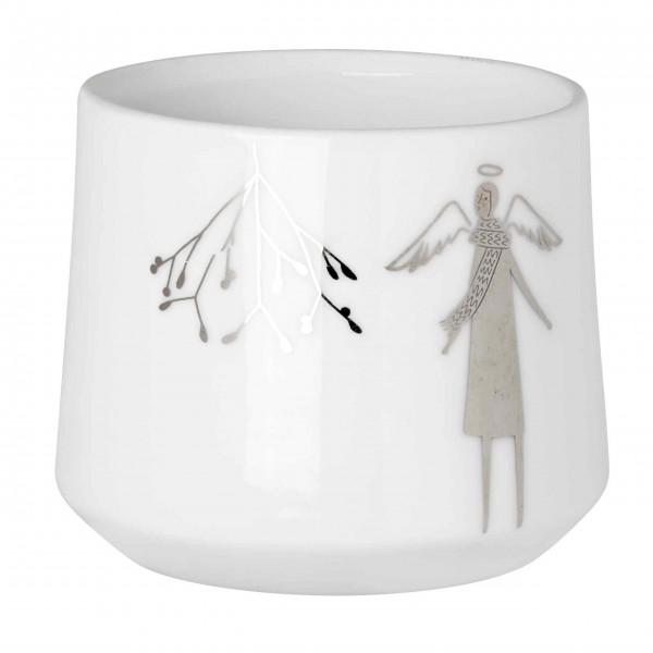 """Teelicht """"Winterwunderland Mistelzweig"""" - Klein (Silber) von räder Design"""