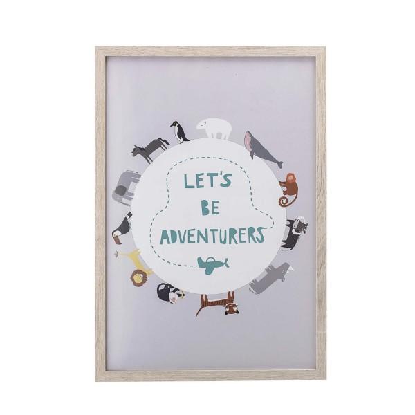 """Bloomingville Bilderrahmen """"Let's be adventurers"""""""