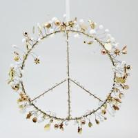 "NOÏ Drahtaufhänger ""FUNKEL - Peace"" (Gold)"