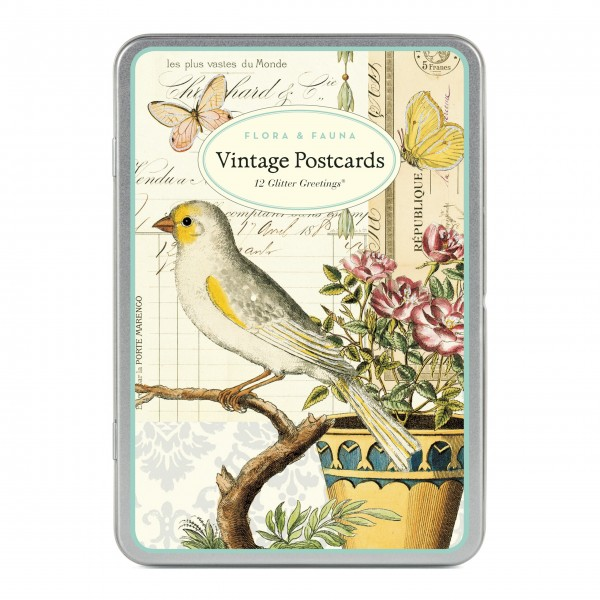 "Cavallini Postkarten ""Flora & Fauna"""