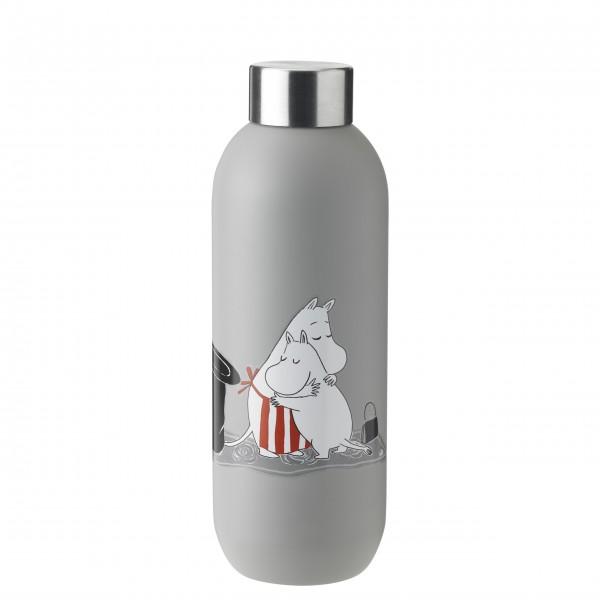 "Stelton Trinkflasche ""Keep Cool - Moomin"" - 0,75l (Hellgrau)"