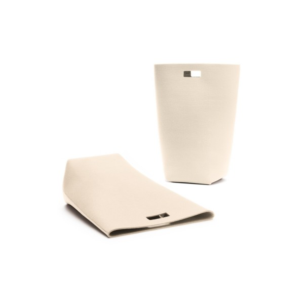 Filz-Wäschekorb - 35x27x69 cm (Weiß/Wollweiß) von HEY-SIGN