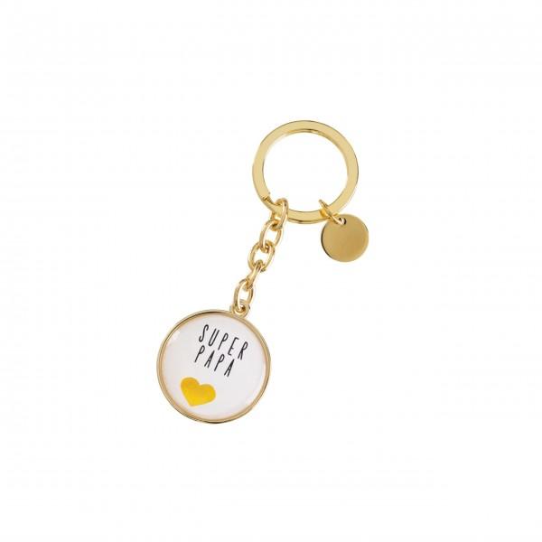Gift Company Schlüsselanhänger Super Papa Cabochon (Gold)