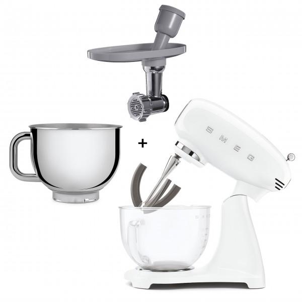"smeg Spezial Paket Küchenmaschine ""50´s Retro Style"" (Weiß)"