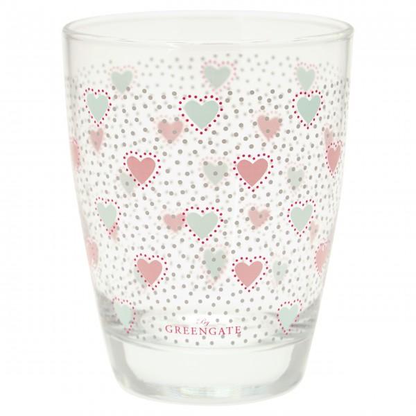 """Herzallerliebst - das GreenGate Wasserglas """"Penny"""" (White)"""