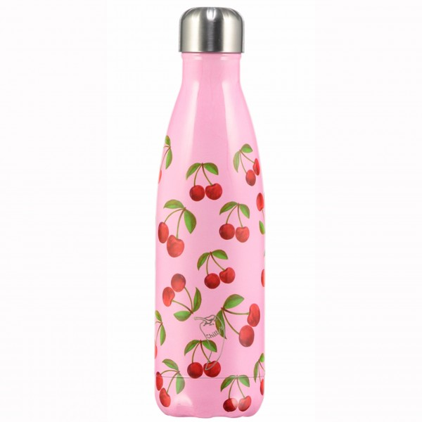 "CHILLY'S Bottle Isolierflasche ""Cherrys"" - 500 ml (Pink/Rot)"